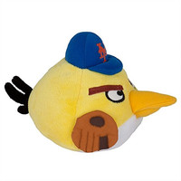 MLB New York Mets Angry Bird Plush Toy, Small, Red