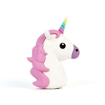 DIY Unicorn Cartoon Cute Phone Power Bank Case Kit Charger Box For 18650 Battery