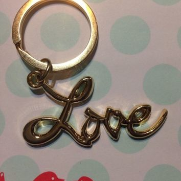 Sex And The City LOVE Keychain GOLD With Gift Bag! US SELLER! Get It Fast!
