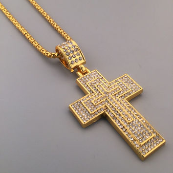 New Arrival Jewelry Stylish Gift Shiny Hot Sale Fashion Hip-hop Club Necklace [6542769347]