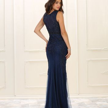 Formal Long Dress Evening Gown Prom Beaded Lace