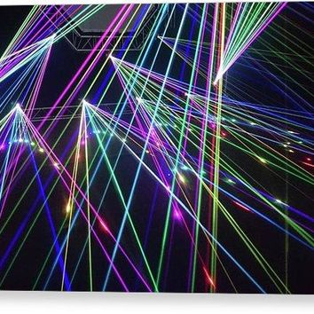 Laser Light Abstract - Canvas Print