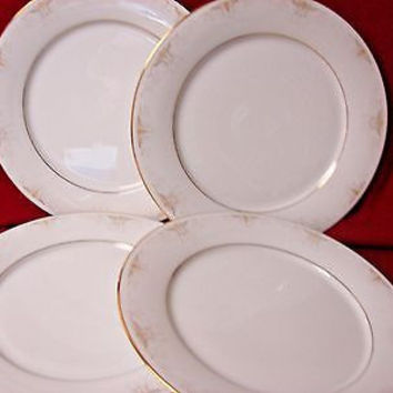 Noritake, China Dinnerware Japan #Glendola  Pattern #:2220 set 4 Dinner plate
