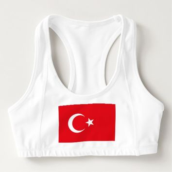 Women's Alo Sports Bra with flag of Turkey