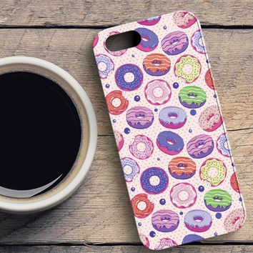 Donuts Pattern iPhone SE Case