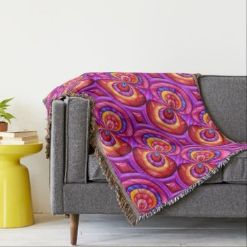 Colourful Abstract Design Throw Blanket