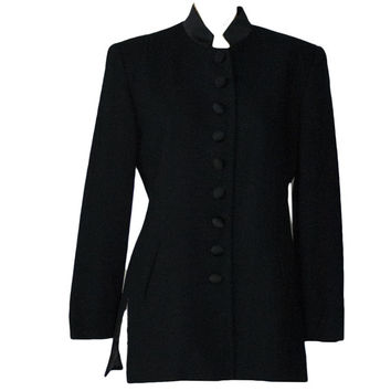 Christian Dior Vintage 80s Black Double Breasted Blazer