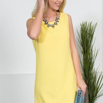 Golden Yellow Scalloped Dress