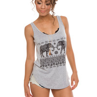 Thandi Elephant Top - Grey