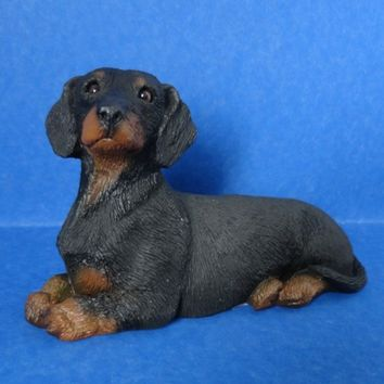 Dachshund Sandicast Dog Figurine