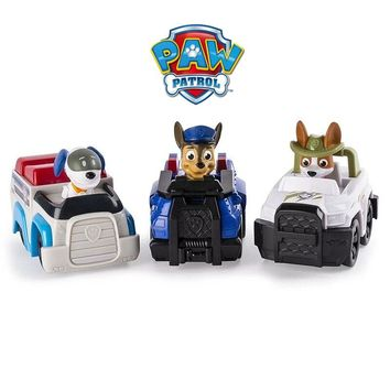 1pc Original Paw Patrol tracker robo apollo vehicle car and figure Kids Toy Gift Puppy Patrol Canine Dog hot sale