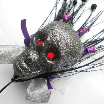 Skull tree Topper, Gothic Tree Topper, Skull Decoration, Gothic Christmas, Gothic Christmas Decoration, Gothic Decoration, Goth Christmas,