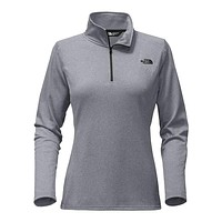 Women's Tech Glacier 1/4 Zip in TNF Medium Grey Heather by The North Face