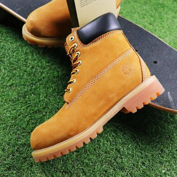 Sale Timberland Wool Waterproof Soft Toe Boots Wheat/Black Color