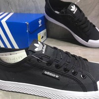Adidas Honey low Casual Fashion Black Canvas Shoes