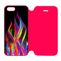 Colorful Abtract iPhone 5 | 5S Flip Case Cover