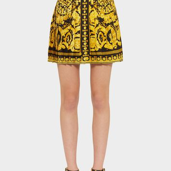 Versace Baroque FW'91 Print Silk Skirt for Women | US Online Store
