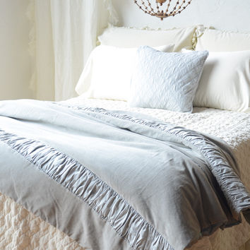 Chloe Personal Comforter with Trecento Ruching in MINERAL