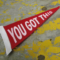 You Got This - Screenprinted, Mini Felt Pennant