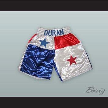 Roberto Duran Red/White/Blue Boxing Shorts