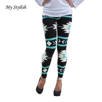1PCS Fashion Casual Skinny Geometric Print Stretchy Pants Leggings Women's Fashion Plus Size Stylish Nov 22