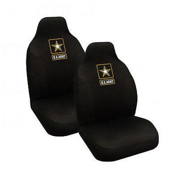 Licensed Official Brand New Military U.S. Army Star Car Truck 2 Front High Back Bucket Seat Covers