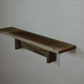 Small shelf 23 wide 5 deep stunning natural patina