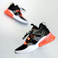 hcxx Mens Nike Air Max 270 - Black/Hyper Crimson-Wolf Grey