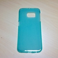 For Samsung Galaxy S6 Edge Soft TPU translucent Color Case Protective Silicone Back Case Cover - Blue