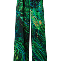 Elie Saab - Printed silk-georgette wide-leg pants