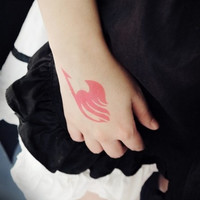 Anime Fairy tail cos Etherious Natsu Dragneel Erza Scarlet Wendy Marvell Feioulei Demon cat cosplay temporary tatto sticker