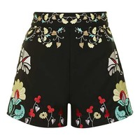 **Embroidered Shorts by Glamorous - Shorts - Clothing