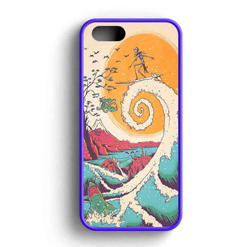 Jack Surfing Before Christmas iPhone 5 Case Available for iPhone 5 Case iPhone 5s Case iPhone 5c Case iPhone 4 Case