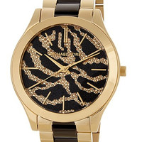 Women's Zebra Pave Crystal Bracelet Watch