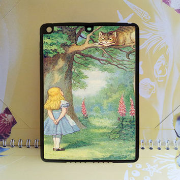 Cat,alice and the cheshire cat for ipad mini case,ipad mini 2 case,ipad air case,ipad 2 case,ipad 3 case,ipad 4 case,new ipad case