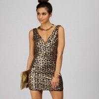 Bronze Poppin Sequin Dress