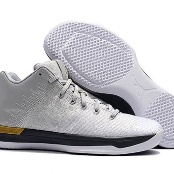 Air Jordan XXXI Retro AJ31 White Silver Gold Men Basketball Sneaker