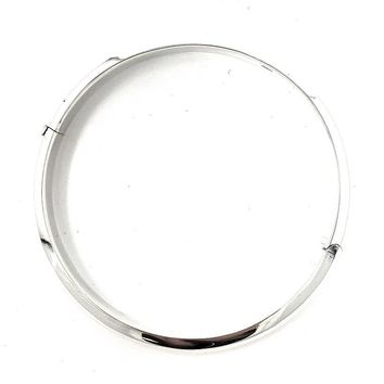 Sterling Silver Classic Round-Edged Hinged Bangle Bracelet, All Sizes