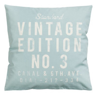 H&M - Canvas Cushion Cover - Gray