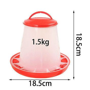 1.5kg Plastic Automatic Food Feeder Chicken Chick Hen Poultry Lid Handle bucket Dogs Cats Food Bowl Dispenser Pet Products Breed
