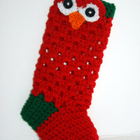 Red Christmas stocking Ready to Ship