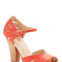 Seychelles Vintage Inspired On the Floor Heel in Coral