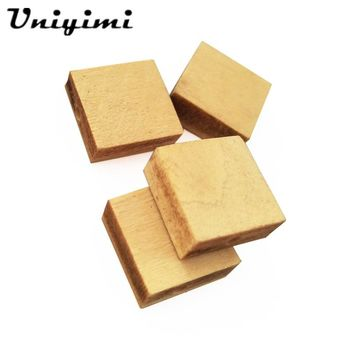 Unfinished Square Cubic Wood Bead Natural With Hole Blank Wooden Cube Beads Charms Findings DIY For Craft Jewelry Accessories