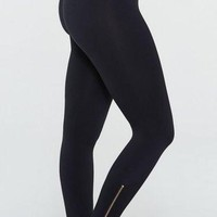 Spanx Zipper Leggings- Black