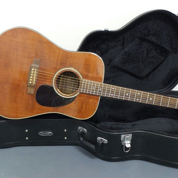 1979 Alvarez DY55 Dreadnought Style Acoustic Guitar with Access Hardshell Case