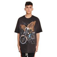 BLACK BIKER-Vintage Graphic Tee