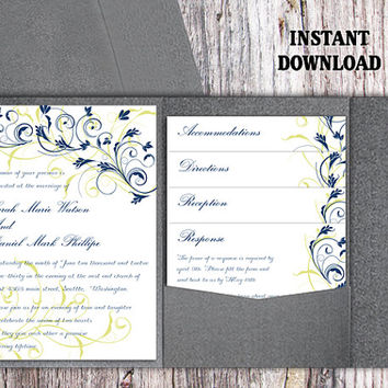 Shop Navy Blue Wedding Invitations on Wanelo
