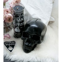 Killstar Black Skull Candle | Dolls Kill