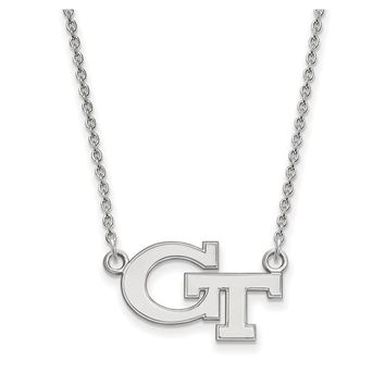 NCAA Sterling Silver Georgia Tech Small Pendant Necklace