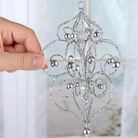 Silver Glittered Finial Ornament - Christmas Ornaments - Christmas and Winter - Holiday Crafts